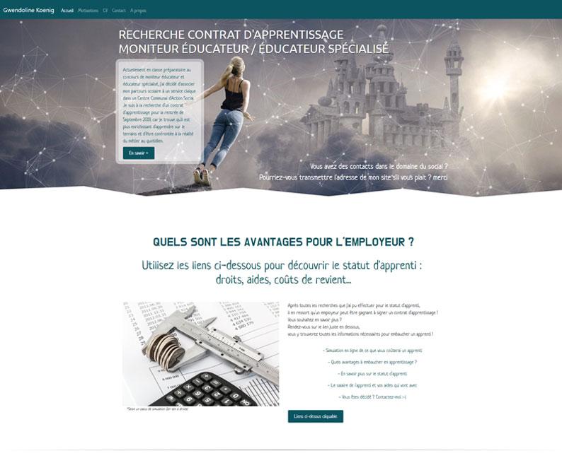 Site web recherche de stage