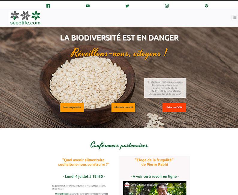 Site fictif sur le thème de l'écologie