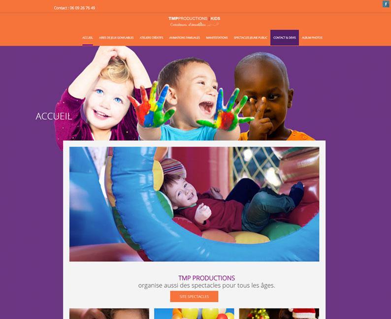 Site web vitrine d'animations pour les enfants